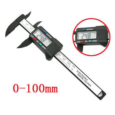 100mm4inch Lcd Digital Electronic Carbon Fiber Vernier Caliper Gauge Micromete