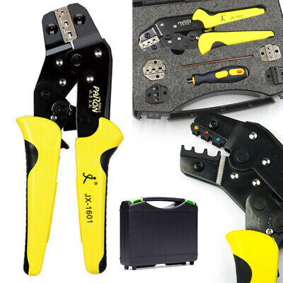 Wire Crimper Insulated Cable Connectors Terminal Ratchet Crimping Pliers Tool
