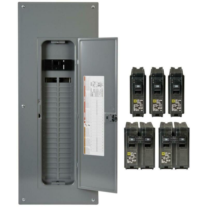 Square D Main Breaker Box Kit 200 Amp 40-Space 80-Circuit Plug-in (Value Pack)