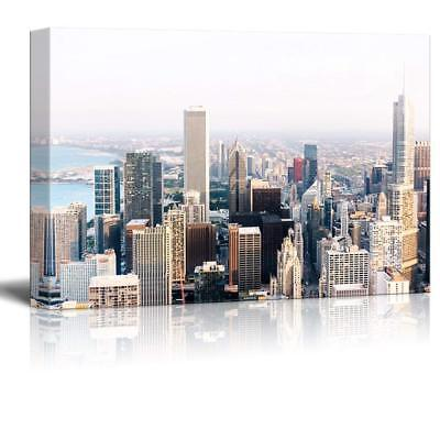 """Wall26 - Cityscape with Buildings Gallery - Canvas Art Wall Decor - 16"""" x 24"""""""