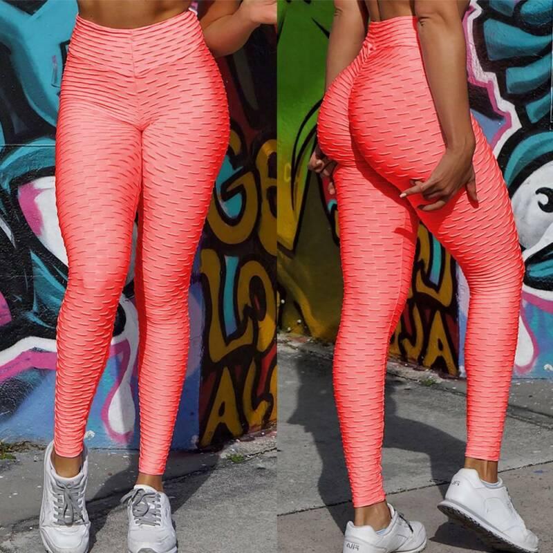 Damen Anti Cellulite Butt Lift Yoga Leggings Sports Hose PUSH UP Jogginghose Neu