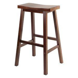 Winsome Wood 29-Inch RTA Single Saddle Seat Bar Stool - Walnut  sc 1 st  eBay & Saddle Seat Stool | eBay islam-shia.org