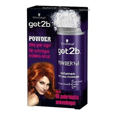 Schwarzkopf got2b Volumen POWDER 10g Haarstyling Haarpflege Haare Volumen Puder