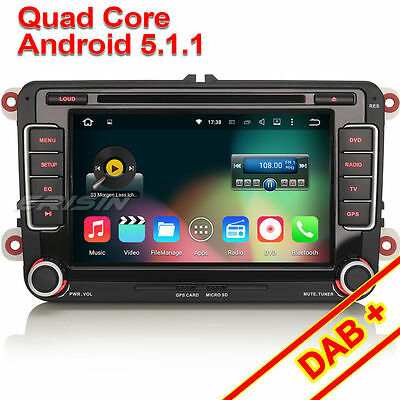 Kyпить Quad Core Android 5.1.1 Car DVD GPS Wifi DAB VW Passat Caddy Polo Touran ES4698V на еВаy.соm