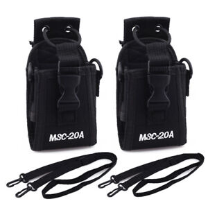 2x Radio Case Belt Holder For Motorola Kenwood Wouxun Baofeng 2Way Walkie Talkie