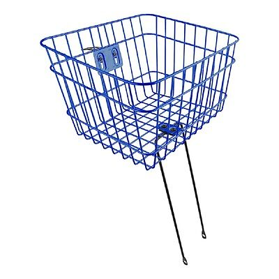 Sunlite Wire Steel Front Bicycle Basket With Struts Blue Carrier Steerer Pets