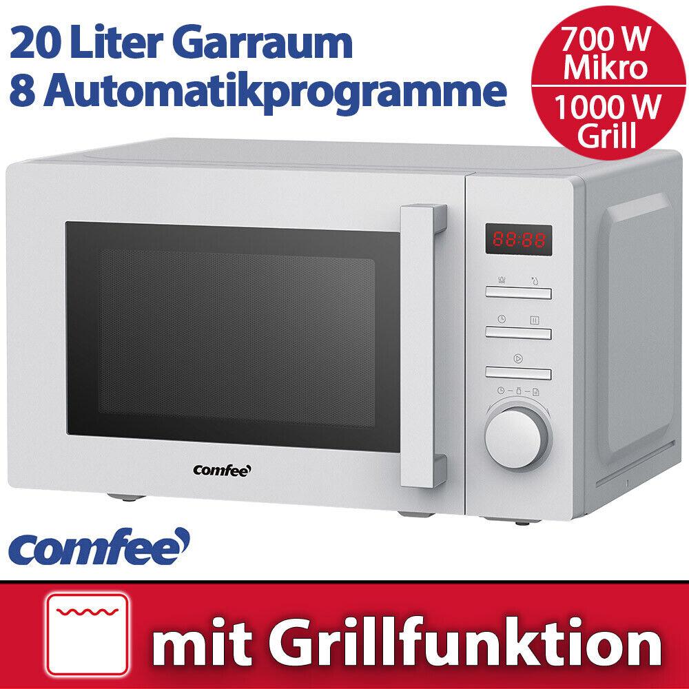 Comfee Kombi Mikrowelle 700 W mit Grill 1000 W Silber Timer Stand Mikro Display