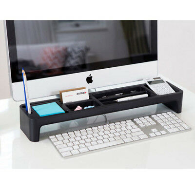Desktop Organizer Box Desk Storage Pencil Holder Stationery Organizer Tray Black