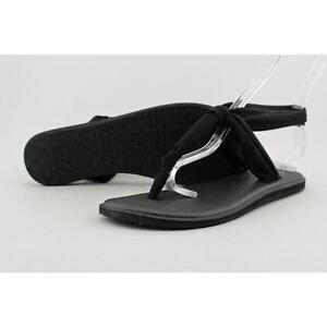 554ca14a04160f Women Sanuk Yoga Sling Ella 1014681 Black Flip Flop Thong Sandal Shoes 6