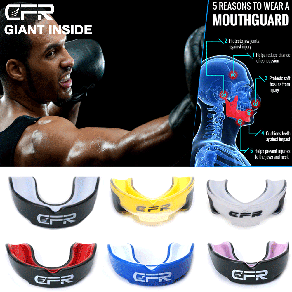 Boxing Gum Shield Mouth Guard With Case Teeth Grinding MMA S