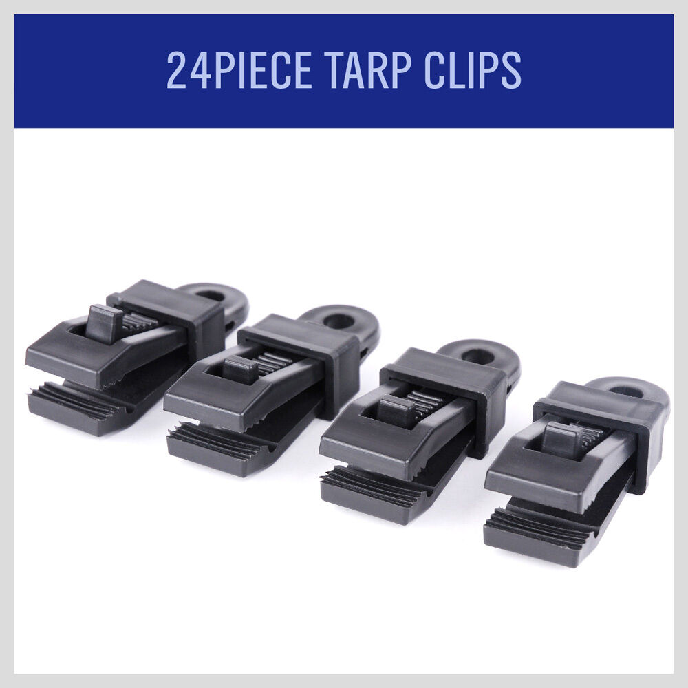 24 Pieces Heavy Duty Tarp Clips Clamps Great For Camping