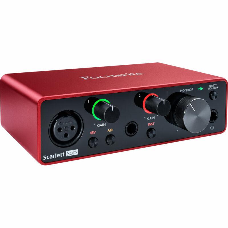 Focusrite Scarlett Solo 2x2 USB Audio Interface (3rd Generation)