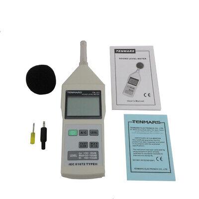 Tenmars Tm-101 Sound Level Noise Meter Tester 30130db31.5hz - 8khz