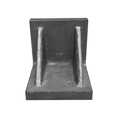 Cast Iron Angle Plate Webbed End Precision Steel Ground 3 X 3 X 3