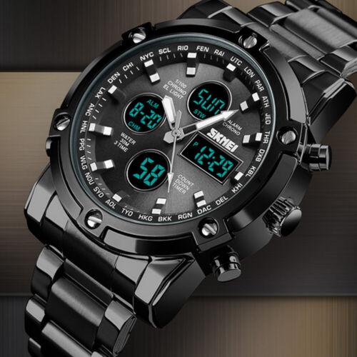 Herren Quarz Analog Armbanduhr Chronograph Datum Watch Men Wasserdicht