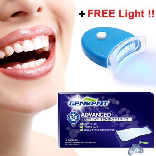 3D EXPRESS NO-SLIP Whitestripes White Strips Teeth Whitening + 1 LED Light Health & Beauty