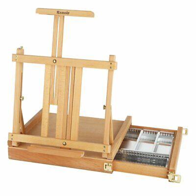Renoir Table Easel Sketchbox Metal Lined Drawer Oiled Beechwood Finish Metal Table Easel