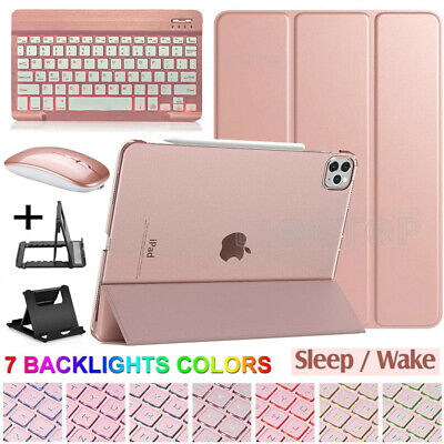 UK For iPad Pro 11 2020/7th 10.2/6th 9.7 Slim Leather Case+Keyboard+Stand+Mouse