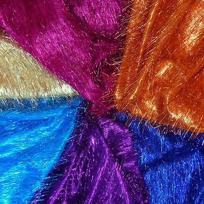 Metallic Eyelash Uragiri Lame Fabric Long Hair Shiny 45