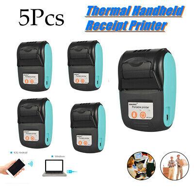 5pcs Goojprt 58mm Portable Bt Thermal Printer Wireless Receipt Machine
