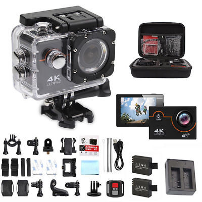 Sport 4K 16MP HD Sports Action Camera wifi Waterproof Helmet/Cam With Go pro bag
