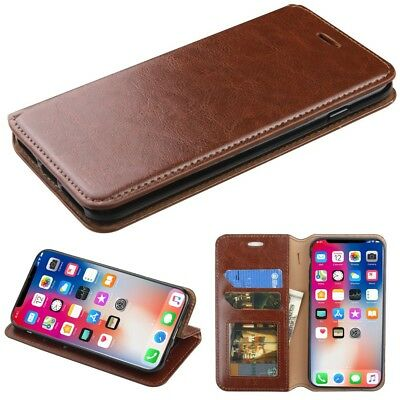 Jacket-  phone case-iPhone X/XS-with Card Holder-Brown for sale  Shipping to India