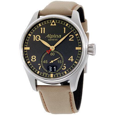Alpina Startimer Black Dial Beige Leather Strap Men's Watch AL280BGR4S6