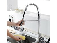 Brand New Polished Chrome kitchen tap for sale with a pull out sprayer