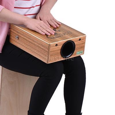 GECKO Portable Cajon Box Drum Hand Drum Zebra Wood with Strap Carrying Bag U4F0