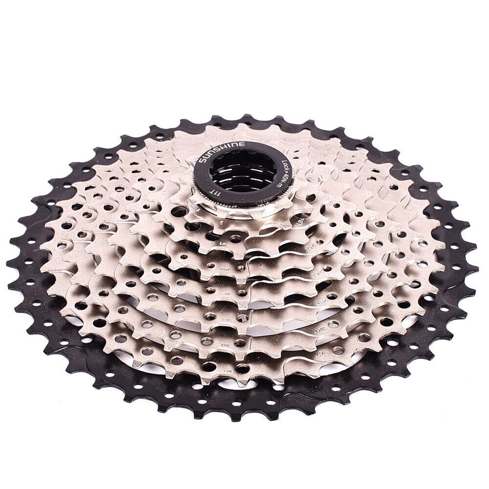 SUNSHINE MTB Bike 9 Speed 11-42T Cassette Flywheel Black fit Shimano Sram HG200