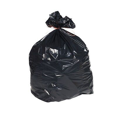 200 x Heavy Duty Black Refuse Sacks Bin Liner Bags / Size 18