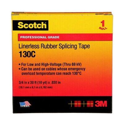 30 Off 1 Lot Of 4 Rolls 3m Scotch 130c 34x30 Black Linerless Rubber Splicing