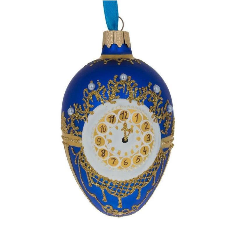1900 Cockerel Royal Egg Glass Ornament