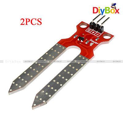 2pcs Soil Humidity Hygrometer Sensor Module Moisture Detection For Arduino Avr