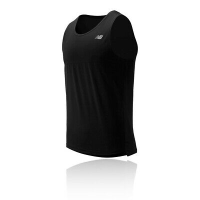 New Balance Mens Accelerate Vest - Black Sports Running Breathable Reflective