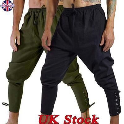 UK Mens Baggy Harem Pants Yoga Hippie Gypsy Drop Crotch Ankle Trousers Pant Size