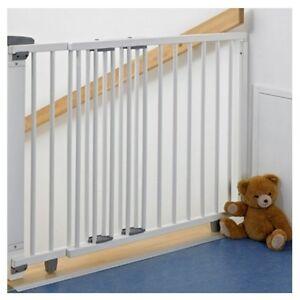 Geuther 2735 WE Schwenk - Treppenschutzgitter  Holz weiss