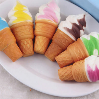 Lots 10Pcs Ice Cream Slow Rising Squeeze Useful Stress Relief Squishy Toy Random