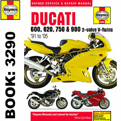 Ducati 600 620 750 900 2-Valve Twins 1991-2005 Haynes Workshop Manual