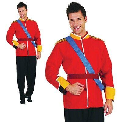Herren Königsblau Prince Charming Kostüm Erwachsene William Pantomime - Prince Charming Kostüm