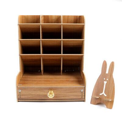 Top Desk Organizer Diy Pen Holder Box Children Stationary Storage Rack W Drawer