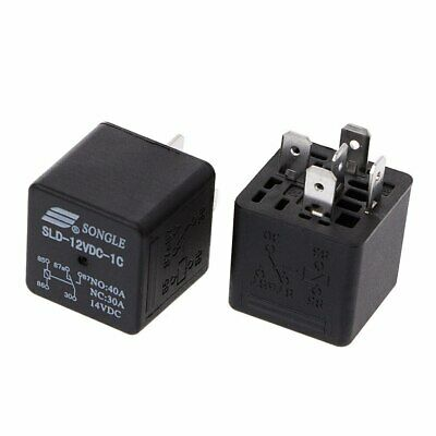 Songle Sld-12vdc-1c Automobile Relay 12vdc Coil 40a Switching Spdt X2pcs