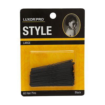 Black Professional 60 (Luxor Professional 60 Large Hair Pins Model No. 5157BK Black Brand New)