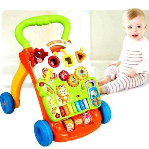 2 in 1 Walking Infant Baby Stroller Walker Push Music Toy Anti-rollover Learning 1