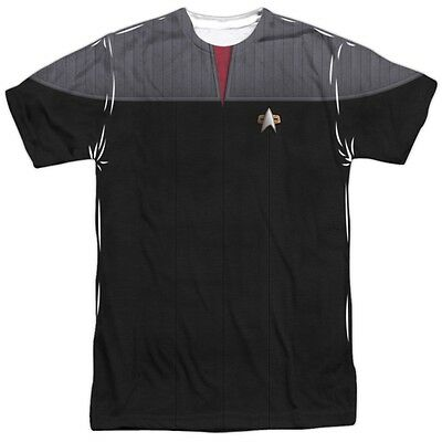Star Trek TNG Next Generation Movie Command Outfit Uniform Allover Front T-shirt (Star Trek Tng Uniforms)