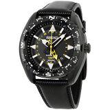 Seiko Prospex Black Dial Black Leather Strap Men'S Watch Sun057