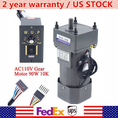 90w Ac 110v Gear Motor Electric Variable Speed Controller 110 135rpm Upgrade