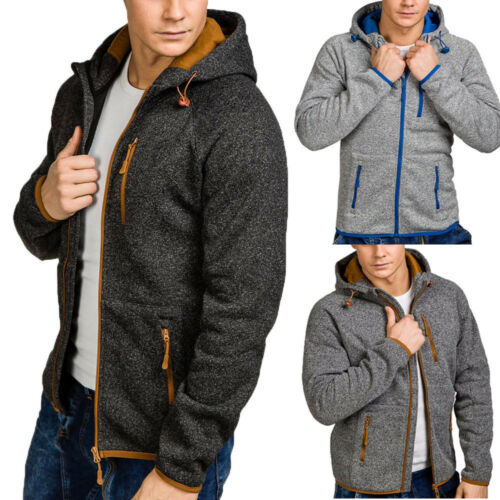 Men Autumn Winter Casual Zipper Long Sleeve 	Jacket Sweatshirt Hoodie Coat Top S