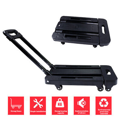 Folding 6wheels Aluminium Cart Hand Truck Dolly Push Collapsible Trolley Luggage