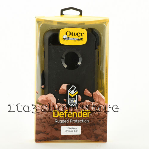OtterBox Defender iPhone 7 Plus iPhone 8 Plus Hard Case +Holster Belt Clip Black